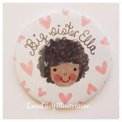Image of Personalised Big Sister Badge