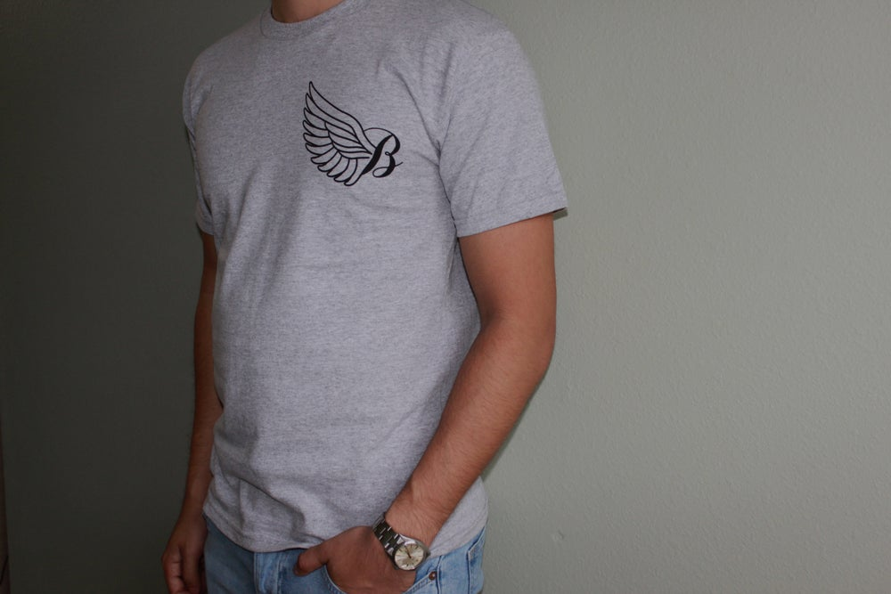 Image of Grey and Black 33 T-Shirt
