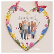 Image of Personalised Family Heart Decoration