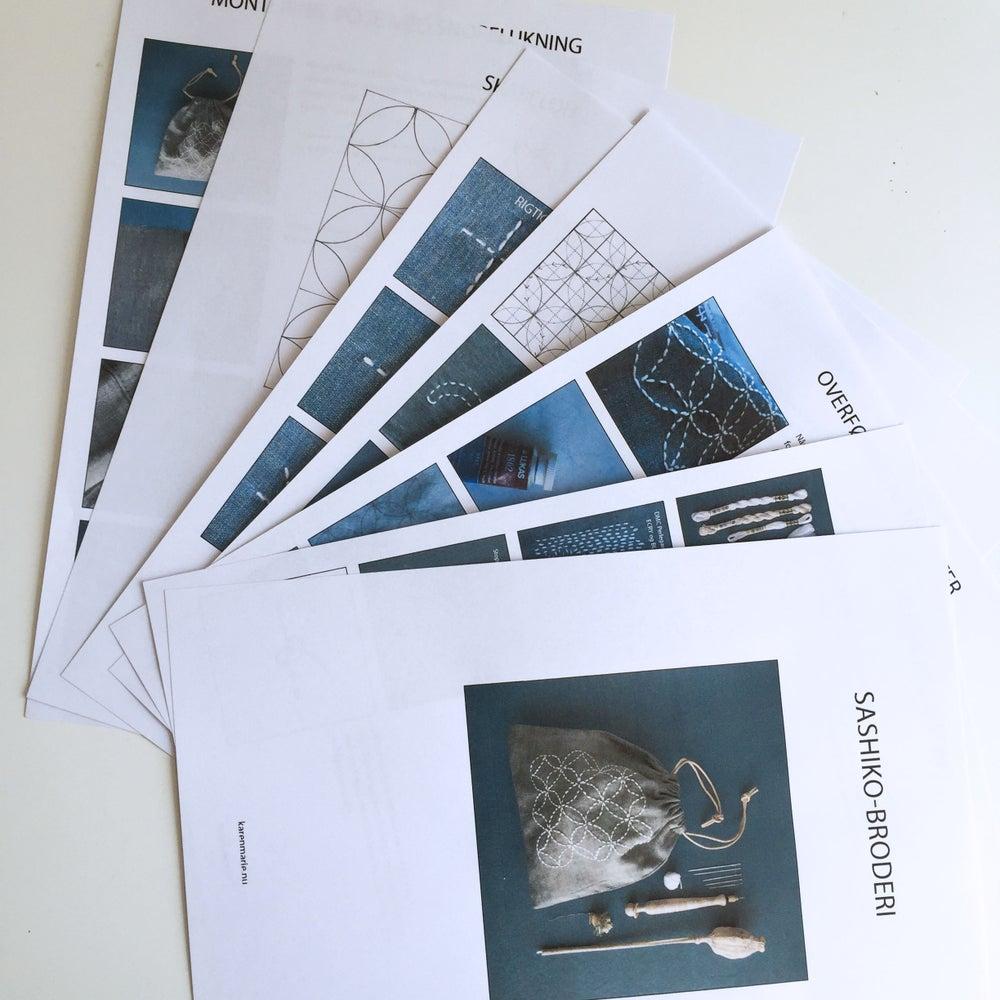 Image of Sashiko-broderi PDF vejledning