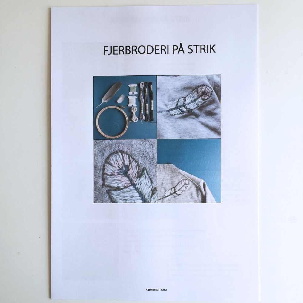 Image of Fjer-broderi PDF vejledning
