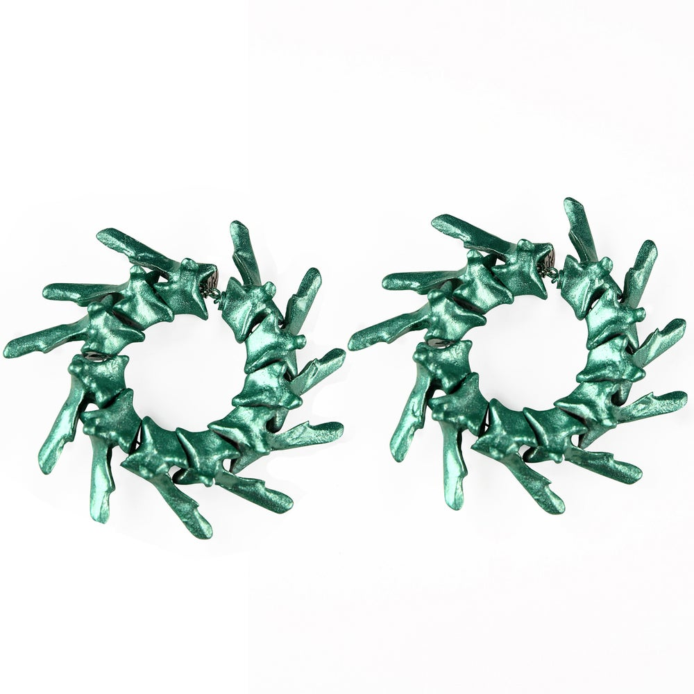 Image of Catspine Earrings (Metal Green)