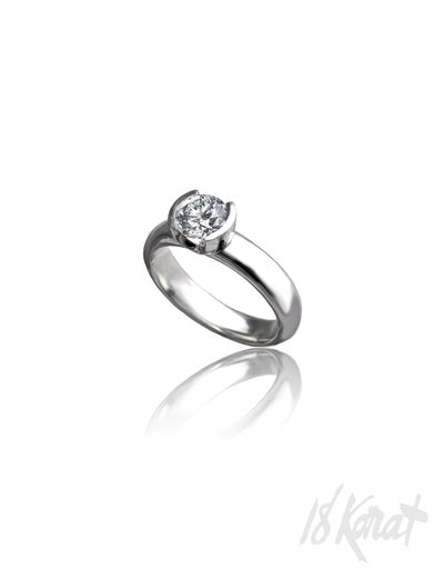 Half Moon Engagement Ring - 18Karat Studio+Gallery
