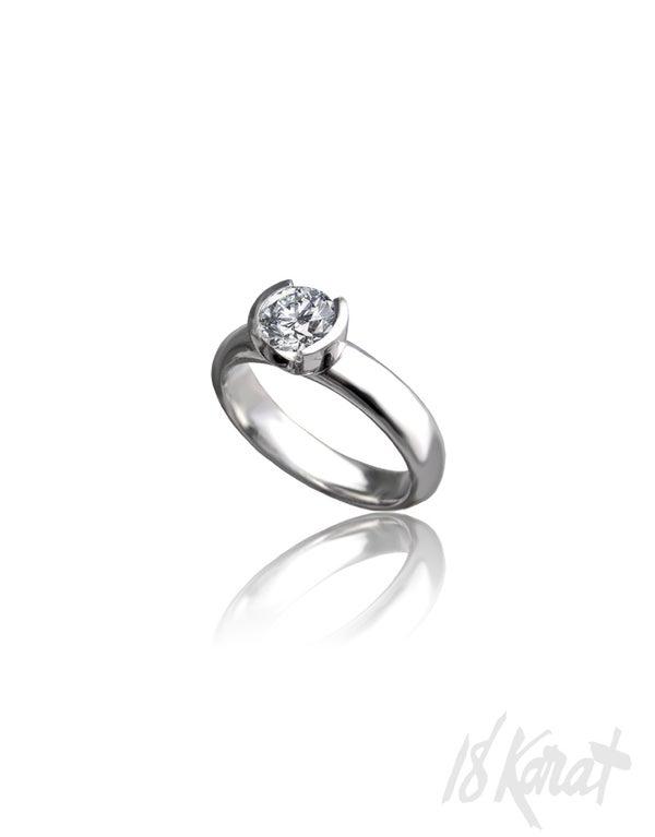 Half Moon Engagement Ring - 18Karat Studio+Gallery