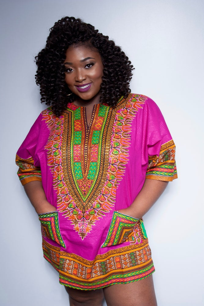 """Image of Rose HANDSTONNED Dashiki- """" PLUS SIVE AVAILABLE"""""""