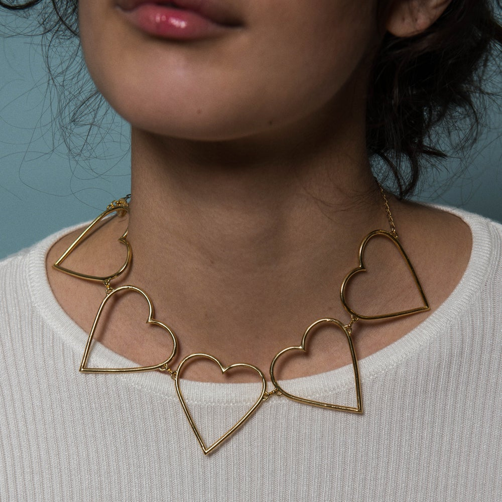 Imagen de Broken Wire Hearts necklace