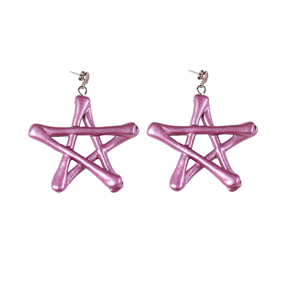Image of Spacewitch Earrings (Metallic Pink)