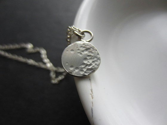 Image of Lullaby Full Moon Necklace, (Silver + Gold)