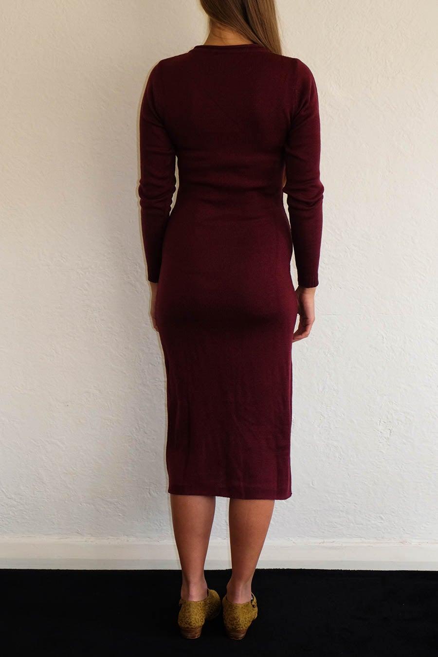 Image of ANKE WINTER DRESS - WINE