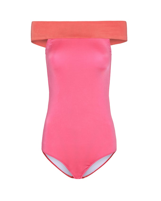 Image of NEVJE SWIMSUIT - SALMON/CANDY PINK