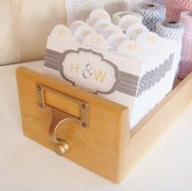 Image of Wedding Guest Book Library Card Catalog