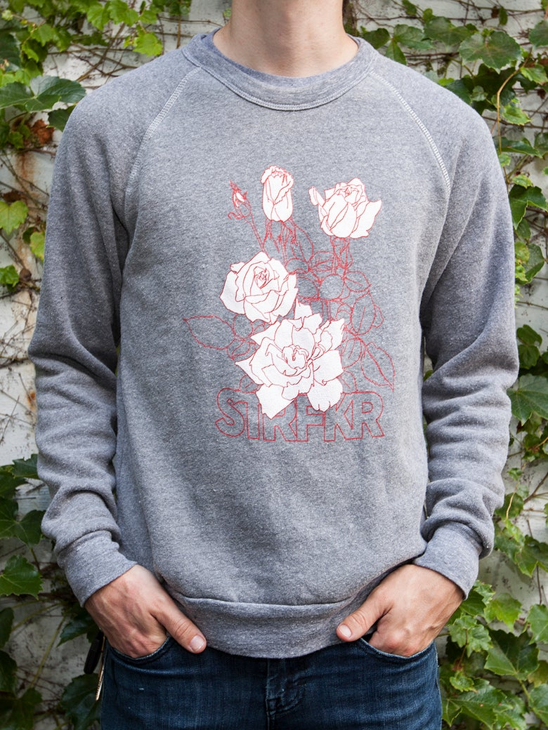 Image of Pink Roses Crew (Gray)