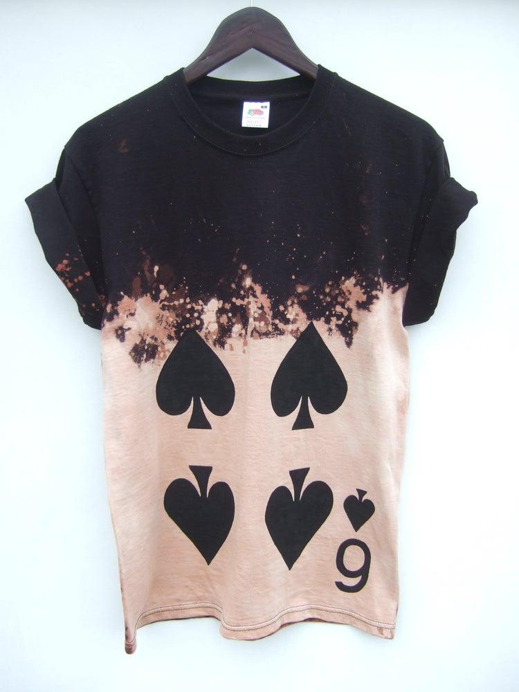 Tappington and wish 6 of spades acid wash shirt 2 for Custom acid wash t shirts