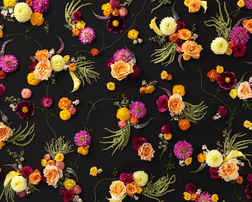 Image of Living Floral Wallpaper