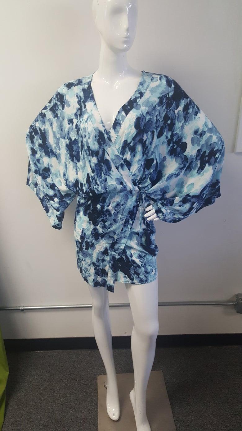 Image of Waterprint Wrap Dress