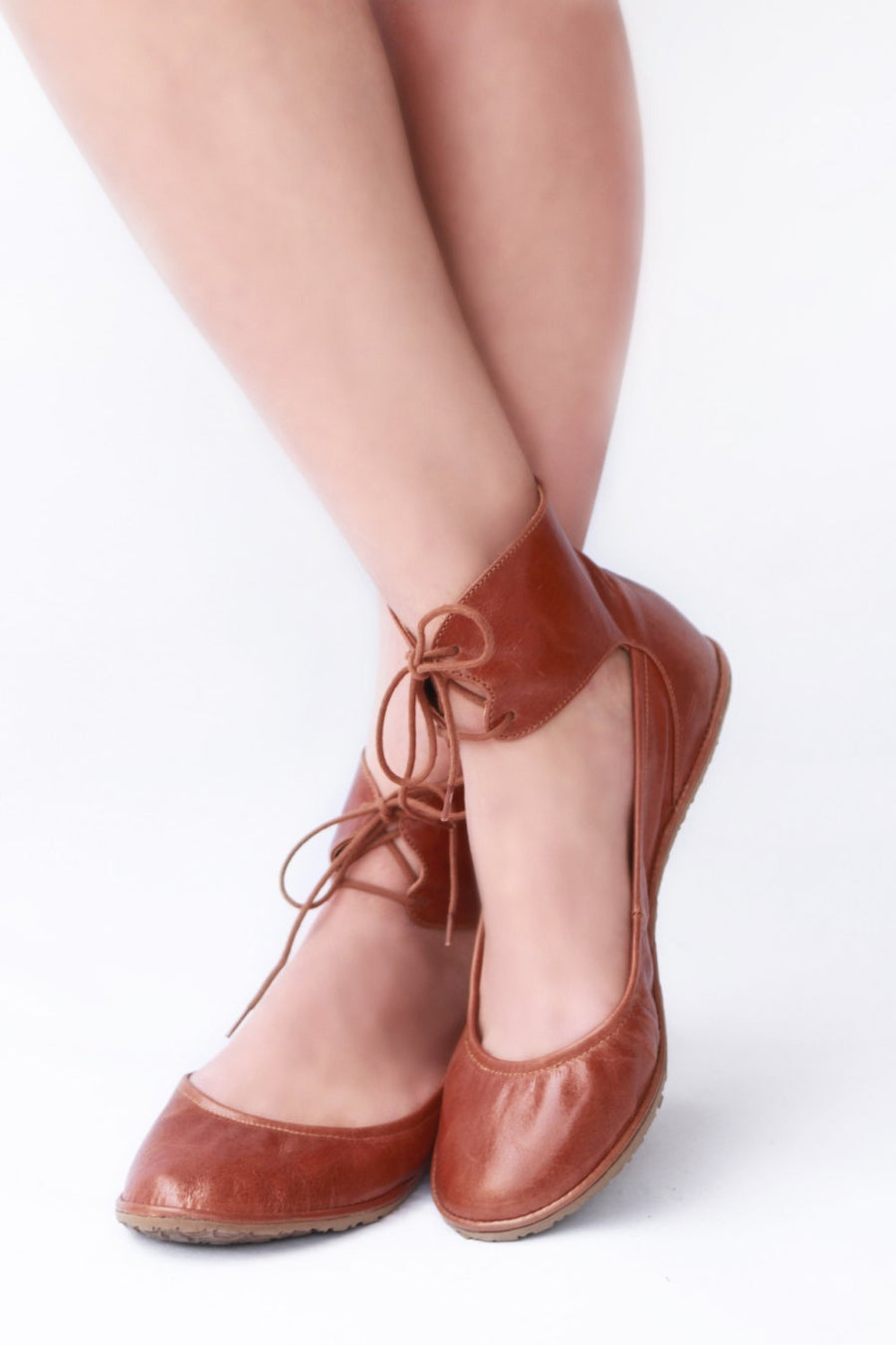 Image of Ballet flats - Ankle lace-up