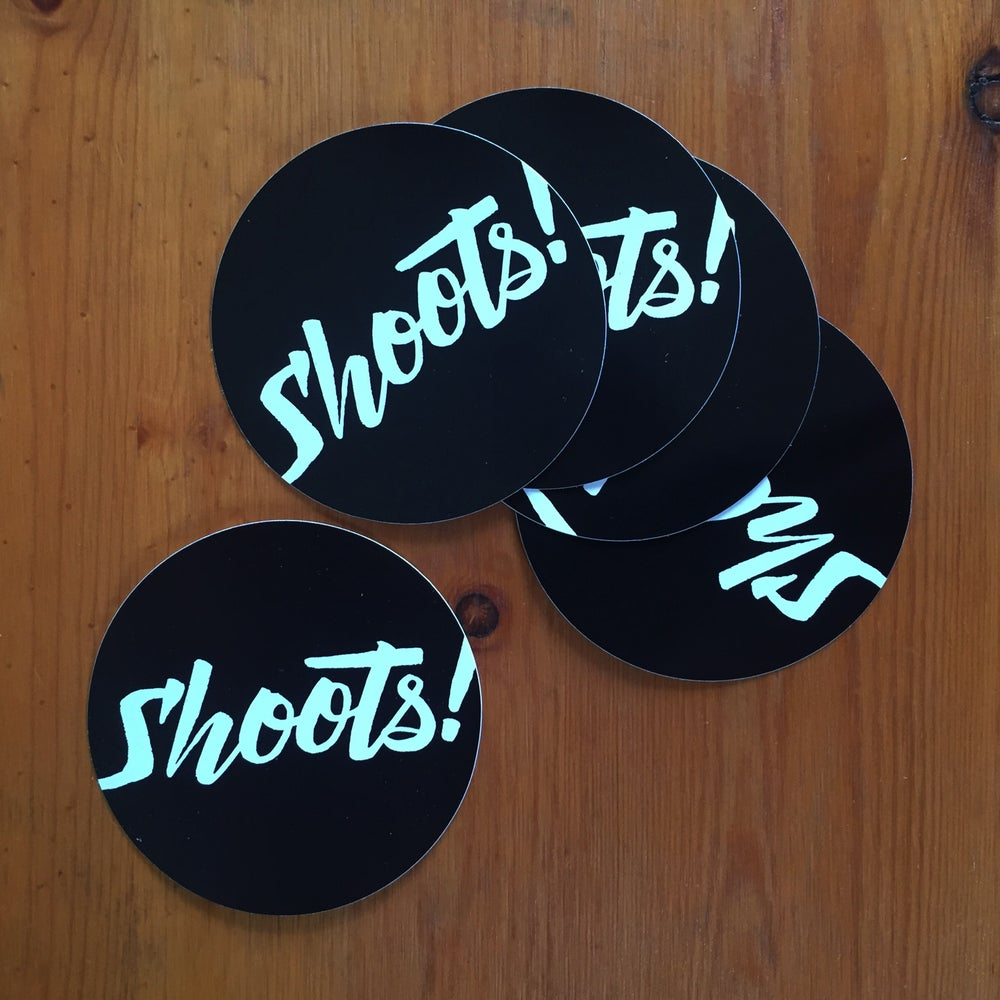 Image of Shoots! script stickers (pack of 5)