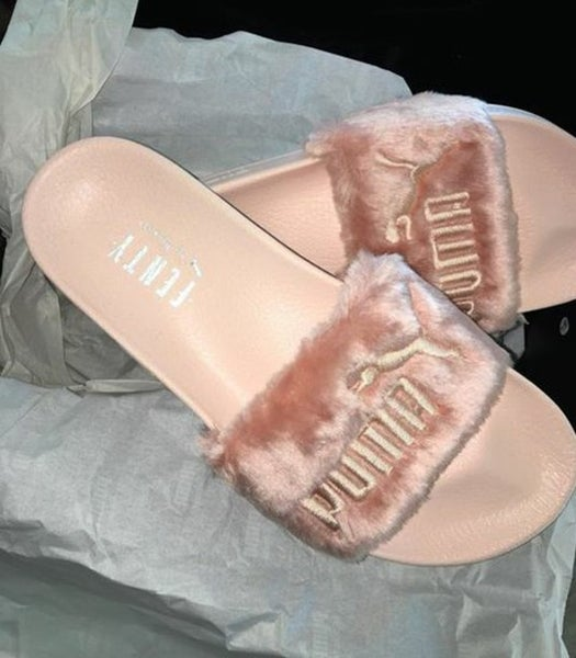 Image of PUMA PINK SLIDES BY RIHANNA