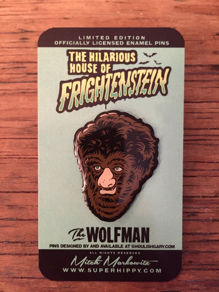 Image of The Wolfman - Hilarious House of Frightenstein pin