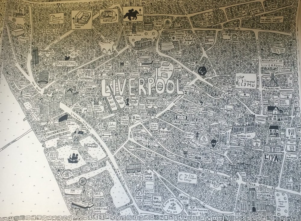 Image of Liverpool Doodle Map