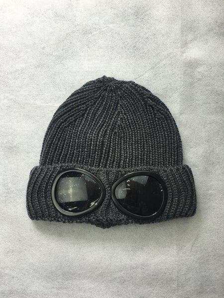 Image of Cp company grey goggle beanie