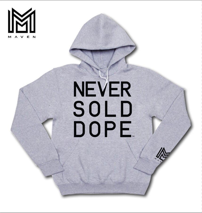 "Image of Maven Brand ""NSD DAY.1"" Grey Hoodie"