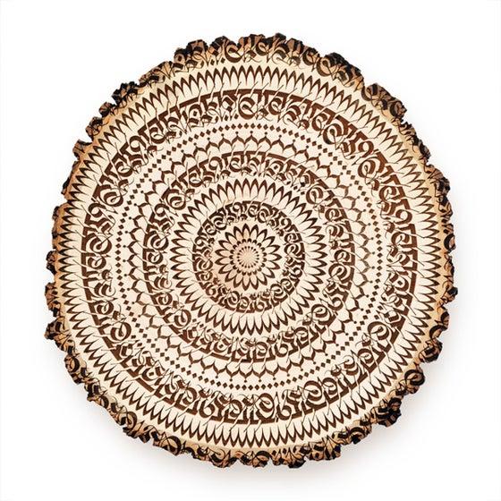 Image of ENGRAVED 'MANTRADALA' | Wood Slice