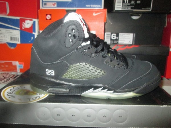 """Air Jordan V (5) Retro """"Metallic/Blk"""" 2007 GS *PRE-OWNED* - areaGS - KIDS SIZE ONLY"""
