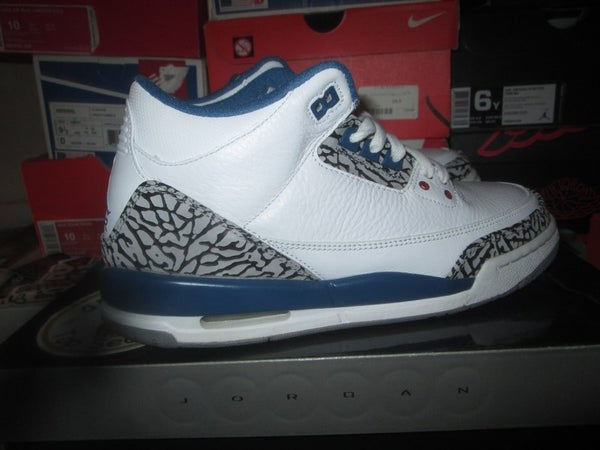 "Air Jordan III (3) Retro ""True Blue"" GS *PRE-OWNED* - areaGS - KIDS SIZE ONLY"