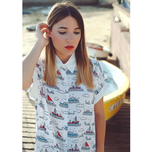 "Image of ⚓️⛵️""DREAM SHIP"" Camisa Larga"