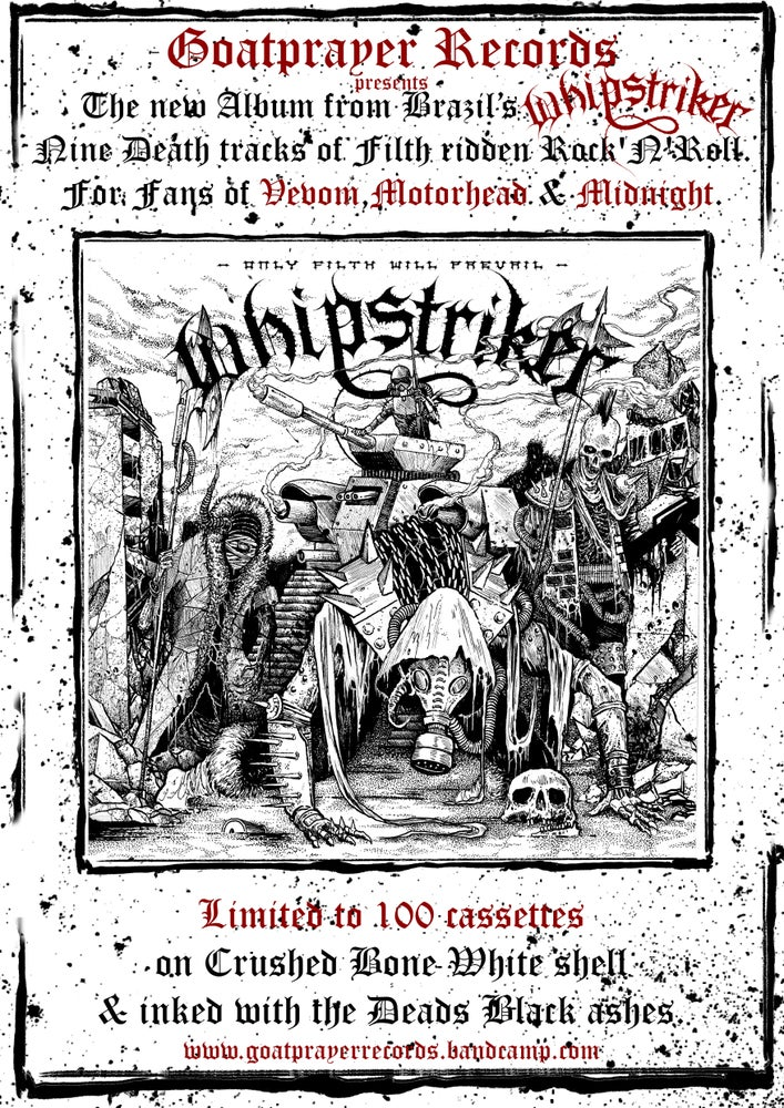 Image of WHIPSTRIKER - ONLY FILTH WILL PREVAIL (TAPE)