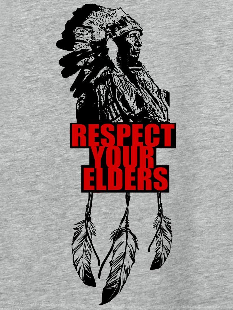 Image of HEATHER GREY- RESPECT YOUR ELDERS CLASSIC T ORIGINAL