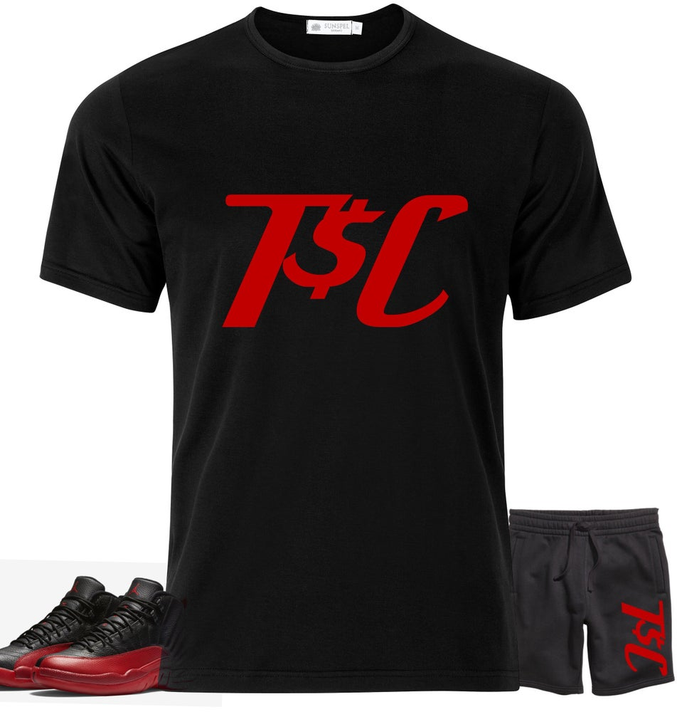 Image of Black / Red T$C Jogger Fit