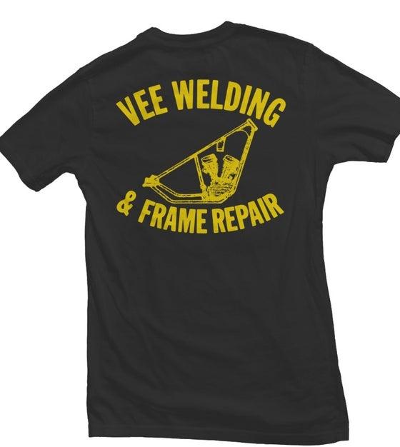 Image of Black VEE WELDING pocket TEE
