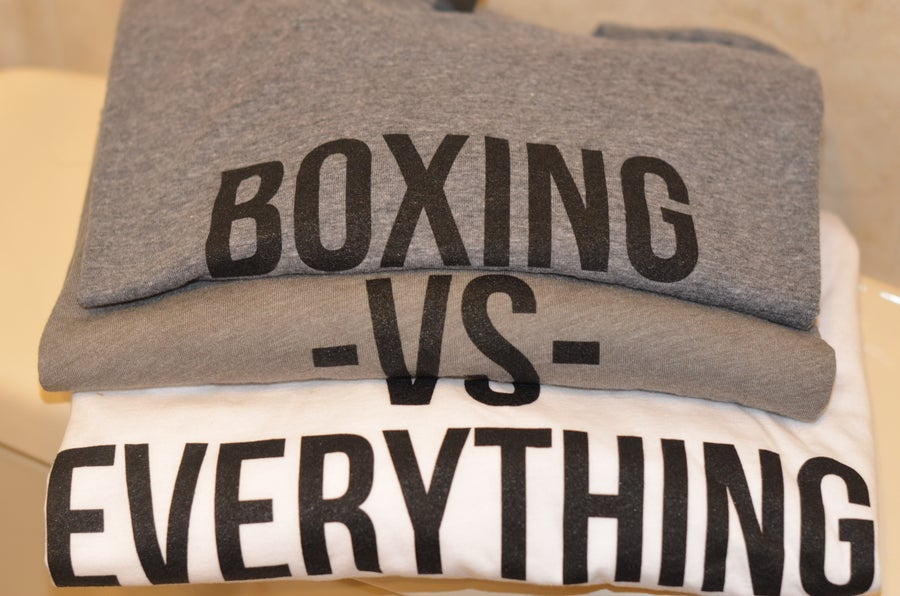 Image of Mens Long Sleeve Boxing Vs Everything Tees