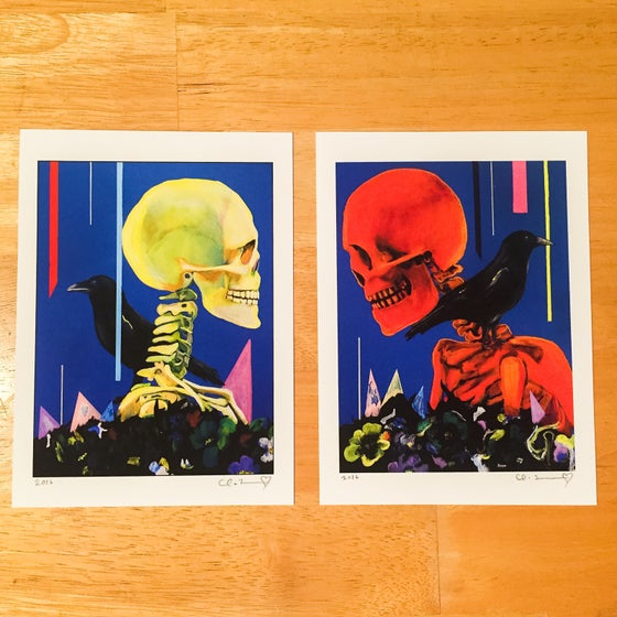 "Image of ""My Partner The Legend I & II"" Giclee Fine Art Print Set (2016 Open Edition) 5.5""x7.5"""