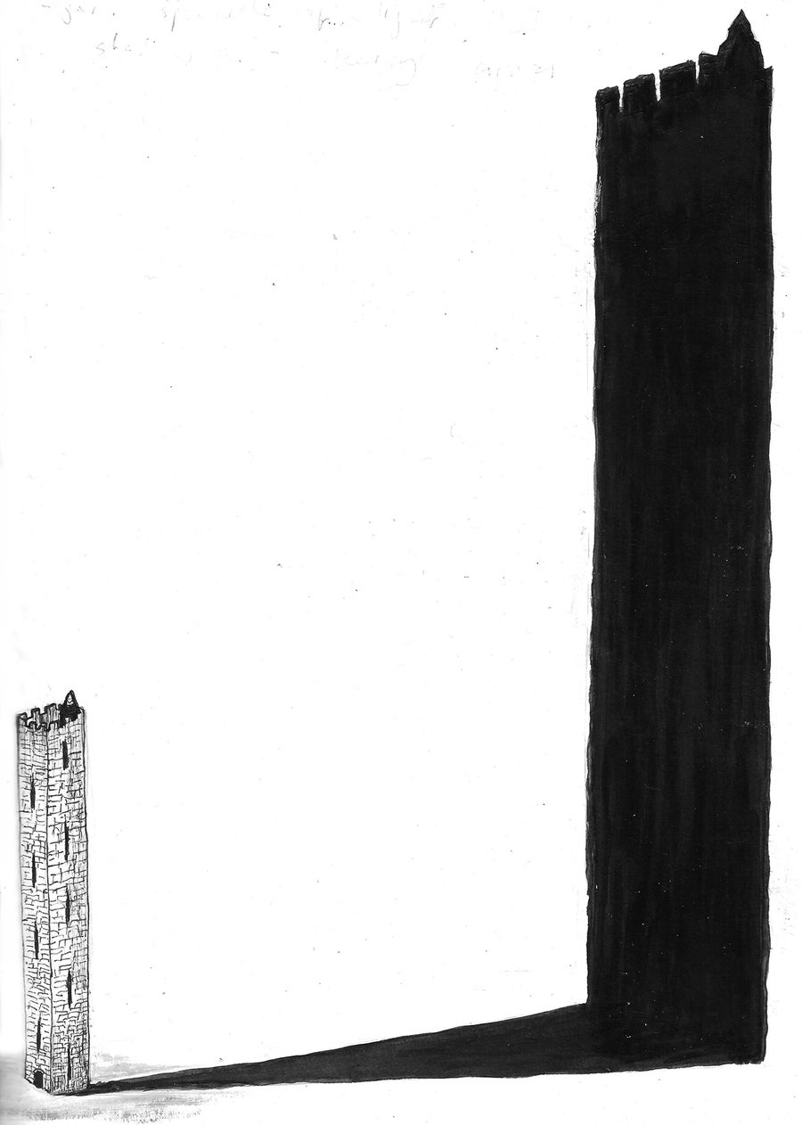 Image of Print 12, unframed: OXFORD TOWER (A Field Guide to Reality). Ltd ed of 50, signed & numbered