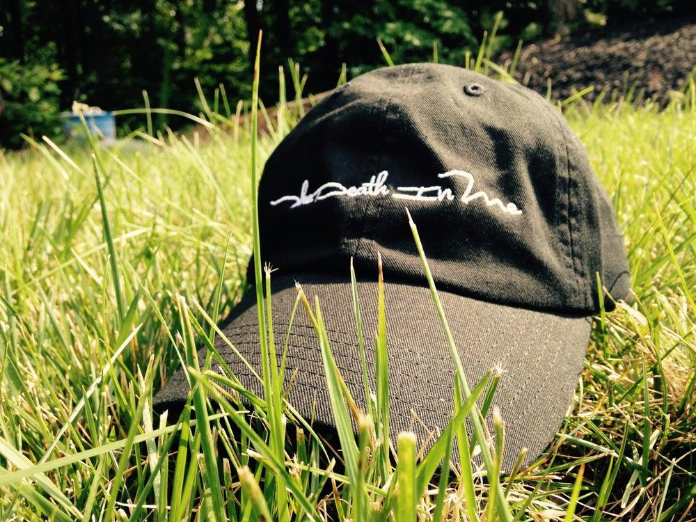 """Image of Scripted Logo """"Dad Hat"""" (Black)"""