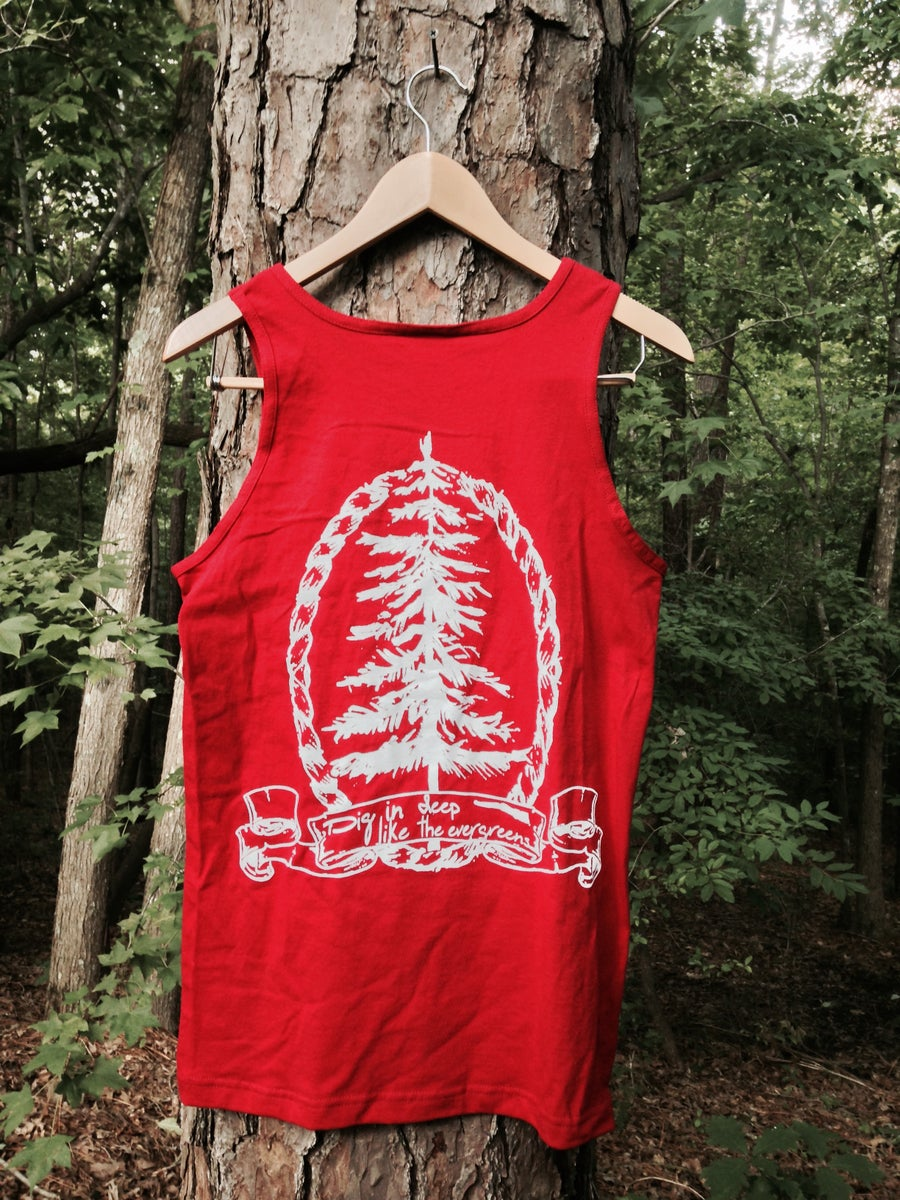 "Image of ""Evergreen"" Tank (Cardinal Red)"