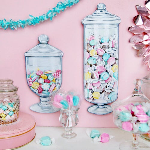 Image of Candy Jar plaques, your choice: Salt Water Taffy or Hard Candy