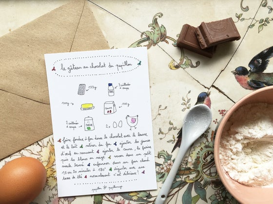 Image of Le gâteau au chocolat du papillon