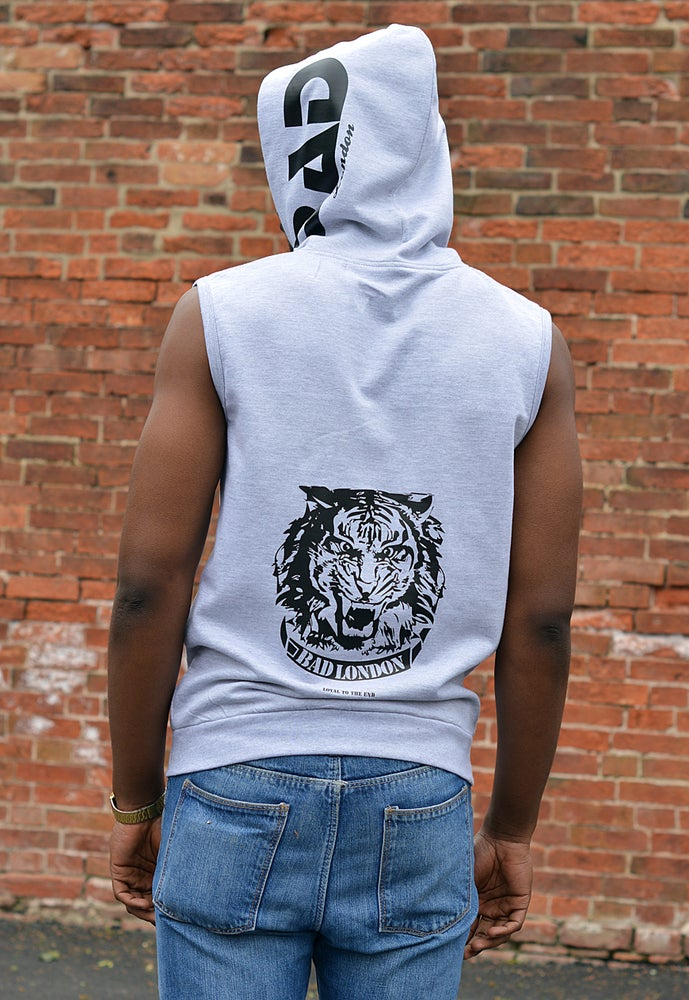Image of Premium sleeveless zoodie by Bad London Designer Street Wear and fitness fashion