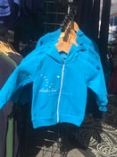 Image of Alaska Love Kid's Zip Hoodie- Neon Blue