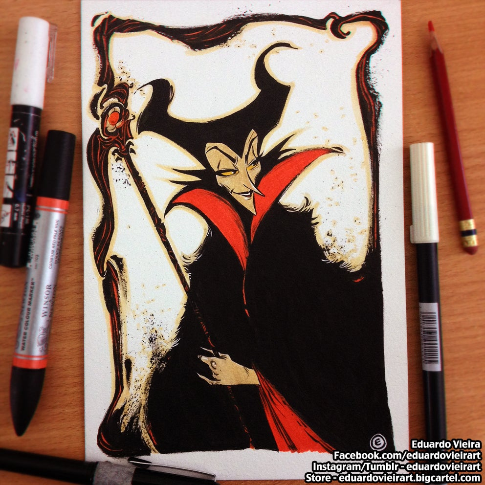 "Image of ORIGINAL ART - Maleficent (9"" x 6"")"
