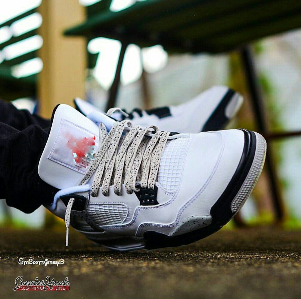 """Image of Exclusive """"CEMENT SPECKLED"""" LE Custom LACES (GREY)"""