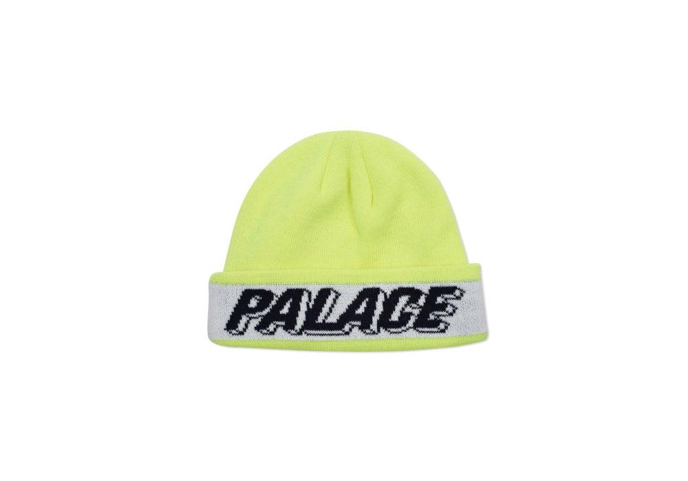 Image of Palace Skateboard 3D Flouro Yellow-Beanie