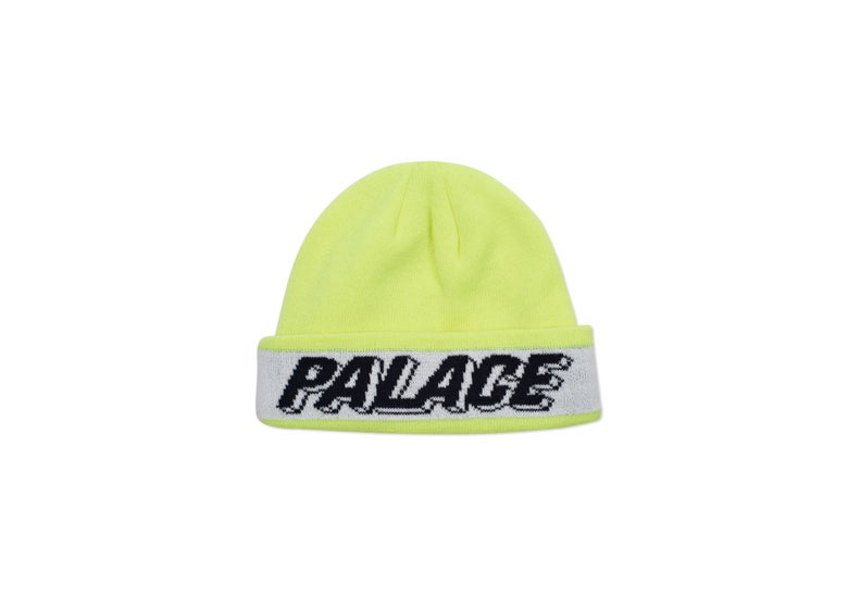 Image of Palace Skateboard 3D Flouro Yellow-Beanie