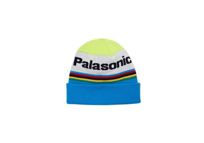 Image of Palace Skateboards PALASONIC BEANIE YELLOW / BLUE