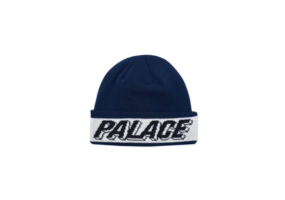 Image of PALACE SKATEBOARDS 3D BEANIE NAVY