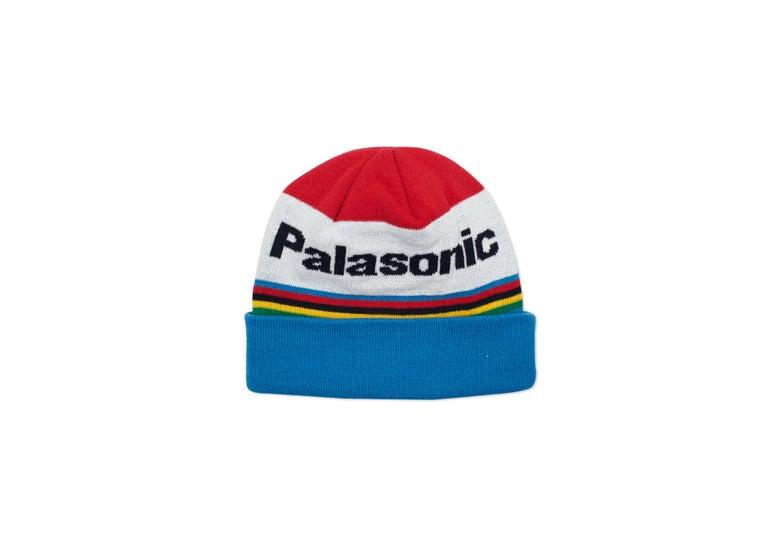 Image of PALACE SKATEBOARDS PALASONIC BEANIE RED / BLUE